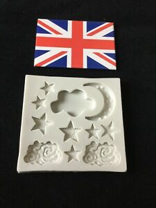 Moon Star And Clouds Moulds For Cake Decorating