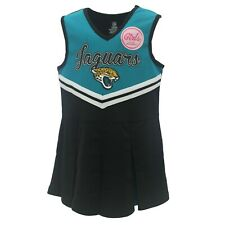 Jacksonville Jaguars NFL Kids Youth Girls Size Cheerleader Outfit with Bottoms