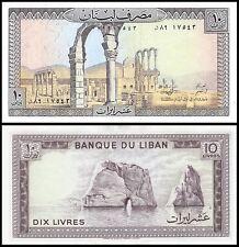 Lebanon 10 Livres, 1986, P-63f, UNC
