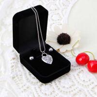 Velvet Engagement Wedding Jewelry Necklace Pendant Display Storage Box Case Hot