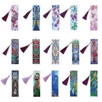 DIY Bookmark 5D Diamond Painting Art Cross Stitch Kit Tassel Craft Multi Pattern