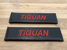 2X Seat Belt Pads Gifts Carbon Volkswagen vw Tiguan Escape Match R Line Sport TD