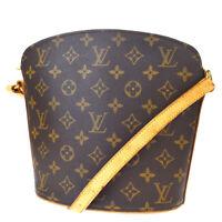 Auth Louis Vuitton Drouot Shoulder Bag Monogram Leather Brown M51290 73MD920