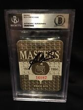 Ben Crenshaw Signed Official 1984 Masters Badge 2x Masters Winner Beckett #2
