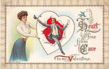 VALENTINE HOLIDAY WOMAN MAN ROMANCE LETTER POSTCARD (c. 1909)