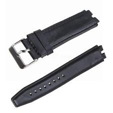 Black Genuine Leather Watch Band Strap Watchbands for Pebble Steel 2 smart watch