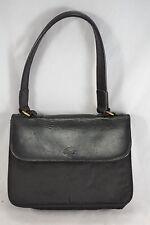 VINTAGE MULBERRY black fabric and leather handbag