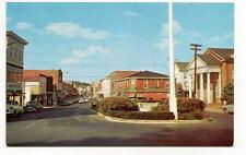 MILFORD DE Walnut Street Derrickson's Vtg Cars Postcard