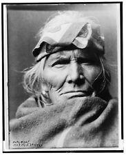 """Edward S Curtis nativo americano 1903 Reproducción Foto Impresión """"si wa apnea Wa'"""
