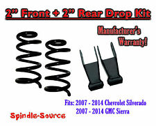 "2007 - 2014 Chevrolet Silverado / GMC Sierra 1500 V6 2"" / 2""  Lowering Drop kit"