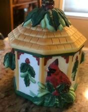 Lenox Winter Greetings Catherine McClung Sugar Bowl & Lid  Everyday Cardinal