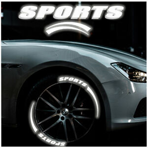 Sports Letter+Blade Night Reflective 3D Stickers Car Wheels Decoration Decals