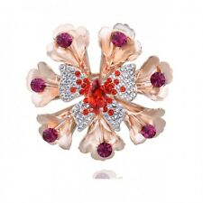 GORGEOUS 18K GOLD PLATED AND GENUINE AUSTRIAN CRYSTAL AND CZ BUTTERFLY BROOCH