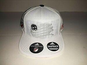New England Revolution MLS Snapback White Flat Bill  Hat