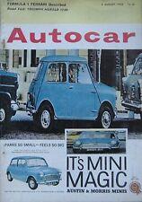 Autocar magazine 2 August 1963 featuring Triumph Herald road test, Ferrari