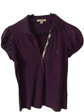 Womans Burberry Polo Shirt M