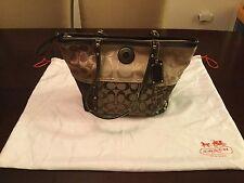 Women's COACH Signature Patchwork Multi Color Studded Tote Bag Purse F20075