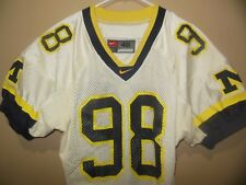 MICHIGAN WOLVERINES NIKE AWAY WHITE GAME FOOTBALL JERSEY