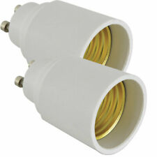 2 PACK Convert GU10 to E27 Edison Screw ES Light Bulb Holder Adapter Connector