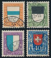 SCHWEIZ 1922, MiNr. 175-178, 175-78, sauber gestempelt, Mi. 95,-