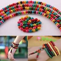 1000 Pcs En Gros Coloré Rondelle Bois Breloque Perles Intercalaires Libre 4mm