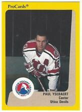 PAUL YSEBART 1989-90 ProCards #209 Pre-Rookie NM-MT Utica New Jersey Devils NHL