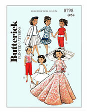 10 1/2 inch doll clothes sewing pattern - Butterick 8798 - high heel dolls