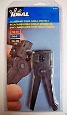 Ideal 45 520 Coax Cable Stripper Rg 6 Rg 59 3 Adjustable Blades Strip Outer