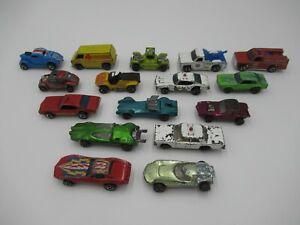 Hot Wheels Red Lines Lot of 16 Heavy Play Wear Vintage Toy Cars Mattel Redline