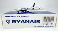 Ryanair B737-800 Reg:EI-FRF  JC Wings 1:400 Diecast Models XX4701