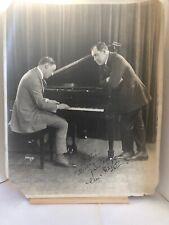 Antique Gus Van & Joe Schenck Vaudeville Comedy Siong Duo Autograph 1910s Photo