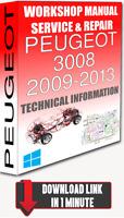 Service Workshop Manual & Repair PEUGEOT 3008 2009-2013 +WIRING | FOR DOWNLOAD