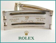 Original ROLEX Vintage Watch Bracelet Buckle CLASP Stamped 14k Trim 1960's