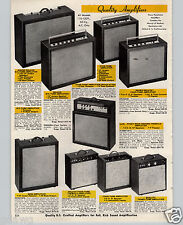 1970 PAPER AD Guitar Amplifier Jensen Speaker 5 Five Tube Tremolo