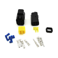 1 set of 4 Pin Way Sealed Waterproof Electrical Wire Connector Plug Terminal Set