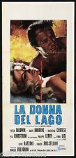LA DONNA DEL LAGO VIRNA LISI GIALLO LOCANDINA CINEMA ITALIA 1965 PLAYBILL POSTER