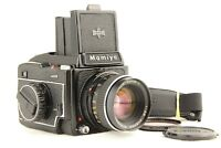 【 NEAR MINT 】 MAMIYA M645 + Waist Level Finder + SEKOR C 80mm f/2.8 from JAPAN