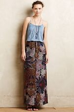 NEW Anthropologie Petaled Paisley Maxi Skirt by Vanessa Virginia/  S