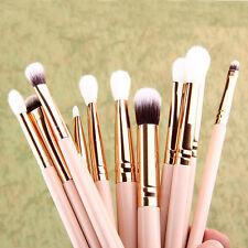 12Pcs Brosse Pinceaux De Maquillage Set Poudre Fard À Paupières Eye-liner Yeux