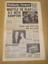 MELODY MAKER 1956 JULY 14 LIONEL HAMPTON HUMPHREY LYTTELTON STARGAZERS NITWITS