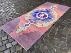 Turkish rug, Runner, Vintage rug, Handmade rug, Corridor, Wool | 3,3 x 7,3 ft