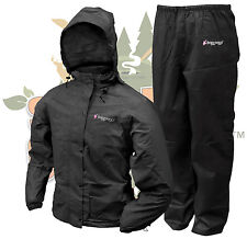 Frogg Toggs BLACK Women's All Purpose Rain Suit Gear Wear Jacket & Pants Size XL