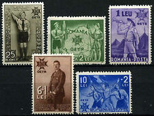 Romania 1935 SG#1305-1309 Boy Scouts, Accession Of Carol II MNH Set #D34932