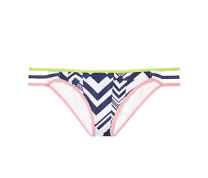 Victorias Secret Ink Blot Geo Strappy Bikini Bathing Suit Bottom Size L Large