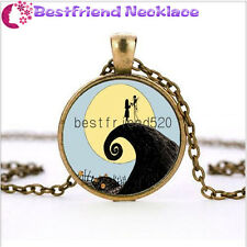 Nightmare Before Christmas jack&sally bronze necklace for woman man gift#TKL6