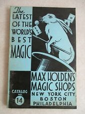 Vintage 1946 Max Holden'S Magic Shops Catalog No. 14 Soft Cover 224 Pages