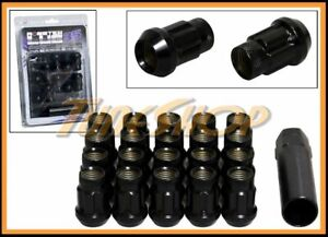 MONSTER SPLINE SR35 WHEEL LUG NUTS 12X1.5 M12 1.5 ACORN RIMS OPEN END 20 BLACK H