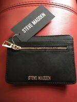 NWT STEVE MADDEN Mens Wallet Slim Black Leather Organizer Coat Pocket