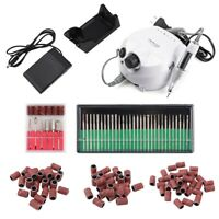 Electric Nail Art Drill Fill Bit Machine Set Manicure Pedicure Polish Tool Kit