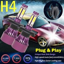 2018 4-Sides H4 9003 Hb2 980W Led Car Headlights Car High Low Beam Bulb Pair